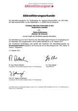 Accreditation certificate